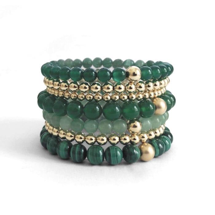 Indy & Noa gemstone bracelets